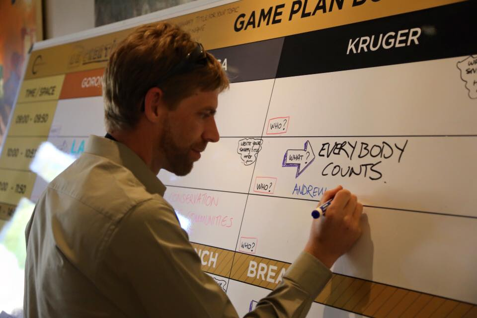 Andrew Kerr grabbing a slot on the Game Plan board